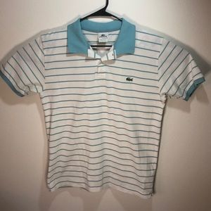 Lacoste Striped Pique Polo